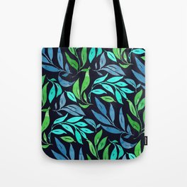 Loose Leaves - cool colors Tote Bag