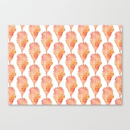 Helconia White Canvas Print