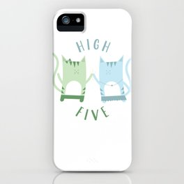 Traveling Tabbies: High Five iPhone Case