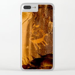 Big Horn Sheep Petroglyph - Nine Mile Canyon - Utah Clear iPhone Case