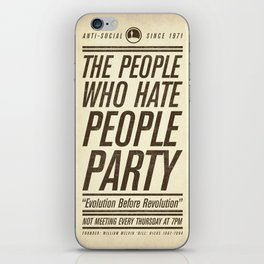 Don't Vote Now! iPhone Skin