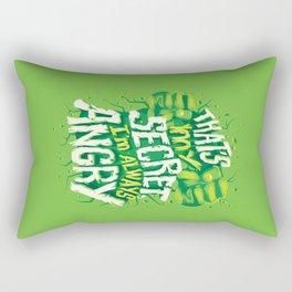 I'm always angry Rectangular Pillow