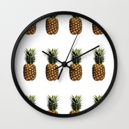 Pineapple Pop Art Wall Clock