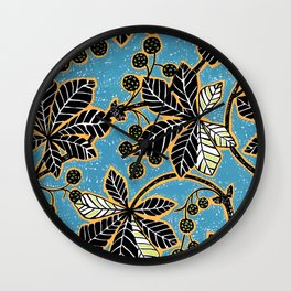 Chestnut Leaves Wall Clock