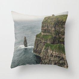 The Cliffs of Moher Throw Pillow
