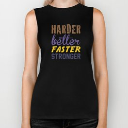 Harder Better Faster Stronger Biker Tank