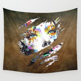 Female Flowers Wall Tapestry