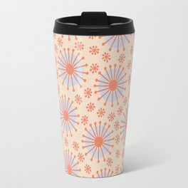 Carousel Retro Blue Travel Mug