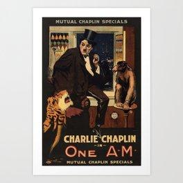 Charlie Chaplin Movie Poster Art Print