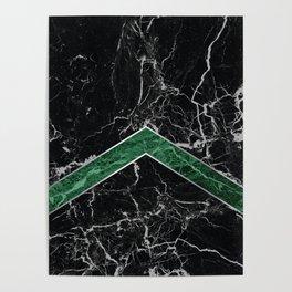 Arrows - Black Granite & Green Granite #269 Poster
