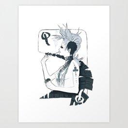 Im not Your F*$#N Queen Art Print