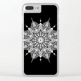 black monika's mandala Clear iPhone Case