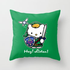 Hey! Listen! Throw Pillow