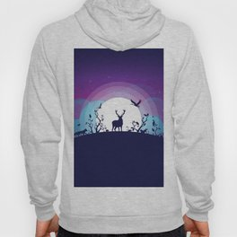 Forest Animals Gathering in the Moonlight Hoody