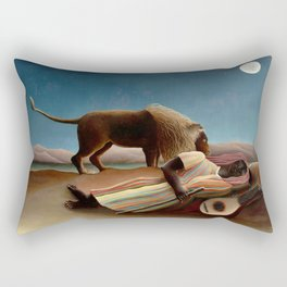 Henri Rousseau - The Sleeping Gipsy Rectangular Pillow