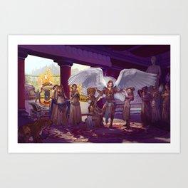 Gladiatrix Art Print