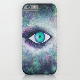 Eye of universe iPhone Case