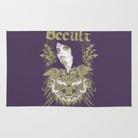 occult Area & Throw Rugs featuring Occult beauty by Tshirt-Factory
