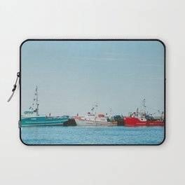 Boats and Turquoise sky Laptop Sleeve