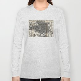 Vintage Map of Berlin Germany (1870) Long Sleeve T-shirt