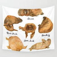 walrus Wall Tapestries featuring the furnished walrus by sarahklinger