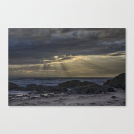 Sunset and God beams Canvas Print