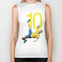 zlatan Biker Tanks featuring Zlatan Ibrahimović Sweden Bicycle Kick Print by graphics17