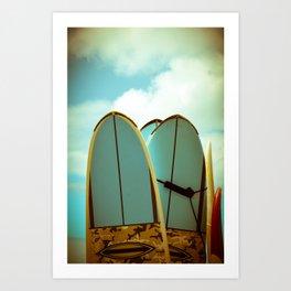 Vintage Surf Boards Art Print