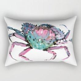 Crab Turquoise Blue Pink Crab Design Rectangular Pillow