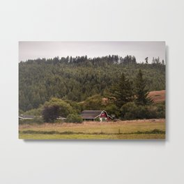 Little Barn House Metal Print