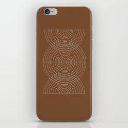 Burnt Orange, Geometric shape iPhone Skin