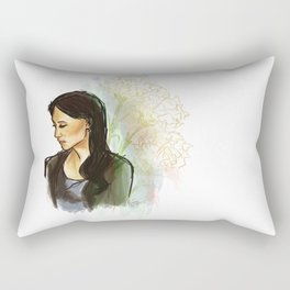 elementary: carnations Rectangular Pillow