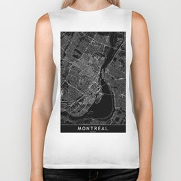 Montreal Black Map Biker Tank
