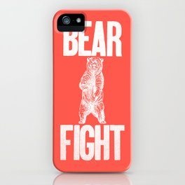 Bear Fight iPhone Case
