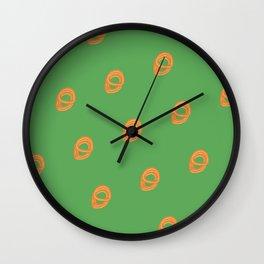 Jalebi Pattern- Moss Green Wall Clock