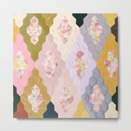 #05#Fabric in pieces pattern Metal Print