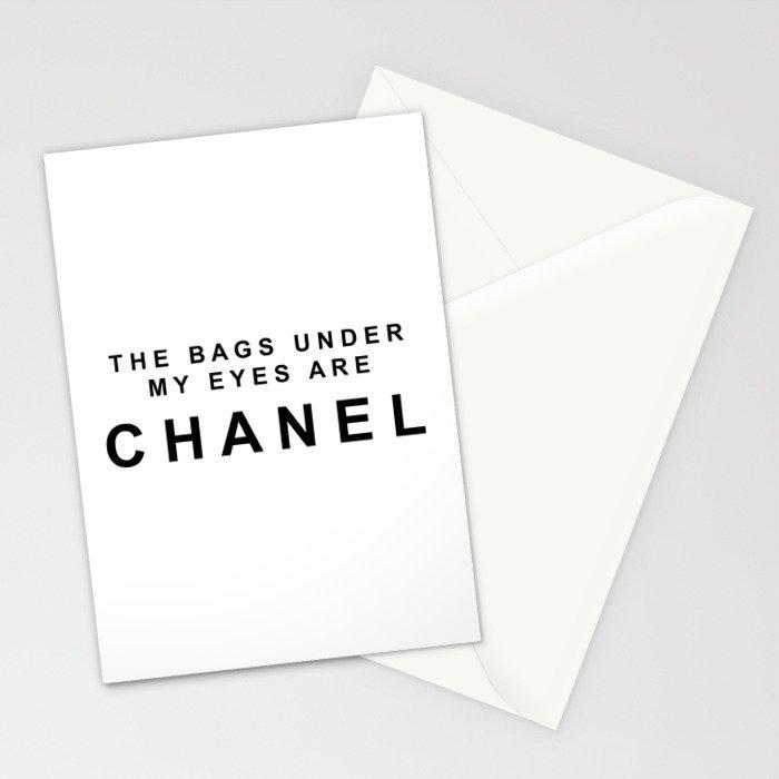 Designer eye bags Stationery Cards
