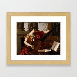Alma Burlton Cull Evening, Yarmouth, I W, 1909 Framed Art Print