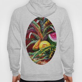 Melons, Sunflowers, Bromeliad Still Life Hoody