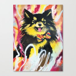 Pomeranian Pop Canvas Print