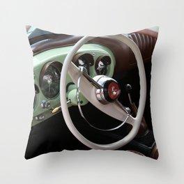 Vintage Kaiser Darrin Automobile Interior Throw Pillow