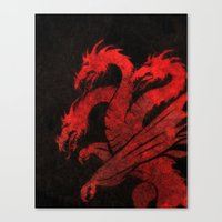 dragons Canvas Prints featuring Dragons by Narwen