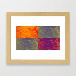 Carp and colour Framed Art Print