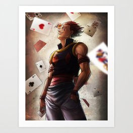 Hisoka (cards) Artwork Art Print