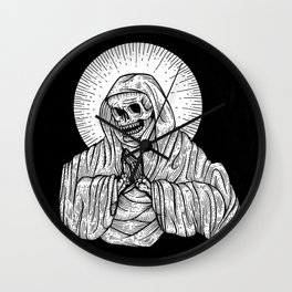 praying for death Wall Clock
