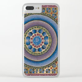 Armenian illuminated manuscript style concentric circles design Clear iPhone Case