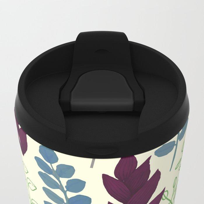 Floral Pattern #5 Metal Travel Mug