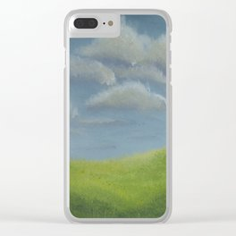 Distant Barn on a Cloudy Day Clear iPhone Case