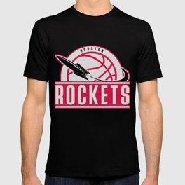 Rockets custom vintage basketball red logo T-shirt