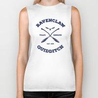 quidditch Biker Tanks featuring Ravenclaw Quidditch Team Seeker: Blue by Sharayah Mitchell